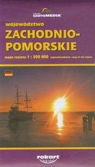 Województwo zachodniopomorskie mapa regionu 1:300 000