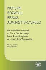 Kierunki rozwoju prawa administracyjnego