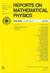 Reports on Mathematical Physics 69/2 Kraj