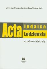 Acta Judaica Lodziensia 1/2011