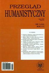 Przegląd humanistyczny 5/2012