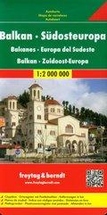 Bałkany Europa Południowa mapa drogowa 1:2 000 000