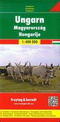 Węgry mapa drogowa 1:400 000