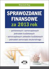 Sprawozdanie finansowe za 2013 rok
