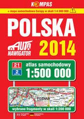 Polska 2014 Atlas samochodowy 1:500 000