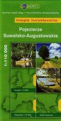Pojezierze Suwalsko-Augustowskie mapa turystyczna