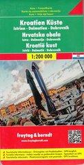 Chorwacja Wybrzeże mapa 1:200 000 Freytag & Berndt