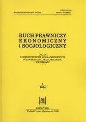 Ruch prawniczy ekonomiczny i socjologiczny 76/2014 Zeszyt 1