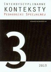 Interdyscyplinarne konteksty pedagogiki specjalnej 3/2013