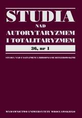 Studia nad autorytaryzmem i totaliryzmem 36 nr 1