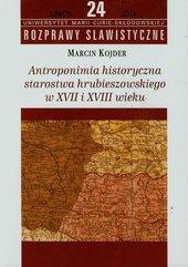 Antroponimia historyczna starostwa hrubieszowskiego w XVII i XVIII wieku