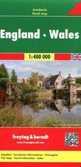 Mapa Anglii Walia 1:400 000