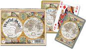 Karty do gry Piatnik 2 talie Mapa świata