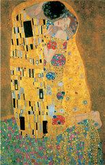 Puzzle Piatnik Metalizowane Klimt, Pocałunek, 1000