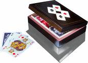 Karty do gry Piatnik 2 talie lux w pudełku drewnianym z asami