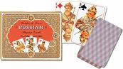 Karty do gry Piatnik 2 talie, Rosyjskie - złote