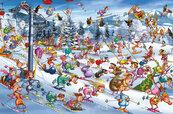 Puzzle Piatnik Ruyer, Święta na Stoku 1000
