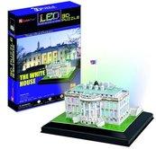 Puzzle 3D LED Biały Dom 56 elementów