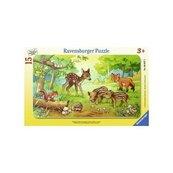 Puzzle ramkowe 15 Zwierzęta z lasu