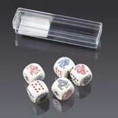 Kości do gry Piatnik Pokerowe 16mm