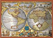 Puzzle Piatnik metalizowane Mapa świata 1000