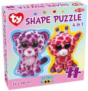 Puzzle Beanie Boos Shape Puzzle 4 w 1