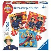 Puzzle Strażak Sam 3 w 1