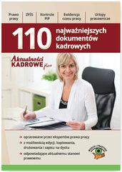 110 Najważniejszych dokumentów kadrowych