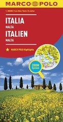 Włochy Malta mapa