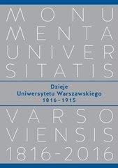 Dzieje Uniwersytetu Warszawskiego 1816−1915