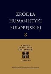 Źródła humanistyki europejskiej Tom 8