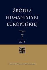 Źródła humanistyki europejskiej Tom 7