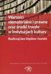 Wartości niematerialne i prawne oraz środki trwałe w instytucjach kultury