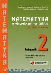 Matematyka w otaczającym nas świecie 2 Podręcznik Zakres podstawowy