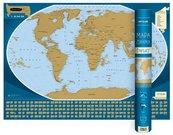 Świat mapa zdrapka 1:50 000 000