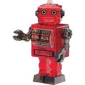Robot czerwony Crystal Puzzle 3D