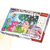 Puzzle Plus 35 + Naklejki My Little Pony Kucyki i ptasie drzewo