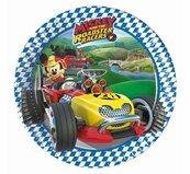 """Talerzyki papierowe """"Mickey Roadster Racers"""" 20 cm, 8 sztuk"""