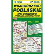 Województwo podlaskie Mapa samochodowa 1:183 000