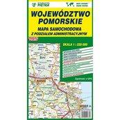 Województwo pomorskie Mapa samochodowa 1:220 000