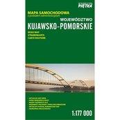 Województwo Kujawsko-Pomorskie Mapa samochodowa 1:177 000