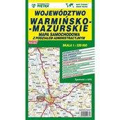 Województwo warmińsko-mazurskie mapa samochodowa 1:220 000