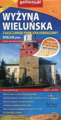 Wyżyna Wieluńska Załęczański Park Krajobrazowy Wieluń plan 1:60 000