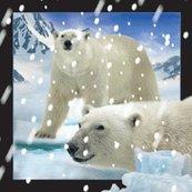 Magnes 3D - Niedźwiedzie polarne w śniegu
