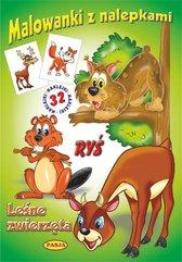 Malowanki z nalepkami - Leśne zwierzęta Ryś