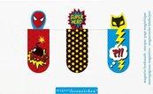 Zakładki Magnetyczne Superbohaterowie Zestaw 3 sztuki