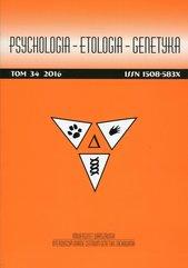 Psychologia Etologia Genetyka Tom 34/2016
