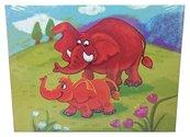 Układanka drewniana Słonie