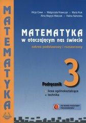 Matematyka w otaczającym nas świecie 3 Podręcznik zakres podstawowy i rozszerzony