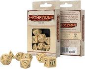 Komplet kości - Pathfinder: Playtest - Beżowo-zielony
